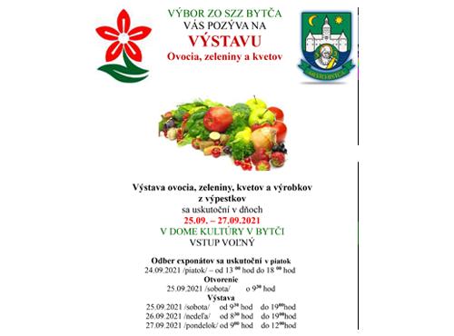Výstava ovocia, zeleniny a kvetov